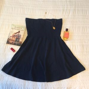 Express /Summer Tube Top Dress / Navy / Large